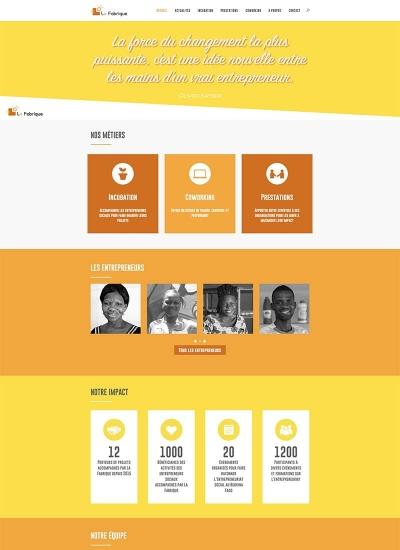Capture d'écran de la page d'accueil de la version 2018 du site web de La Fabrique