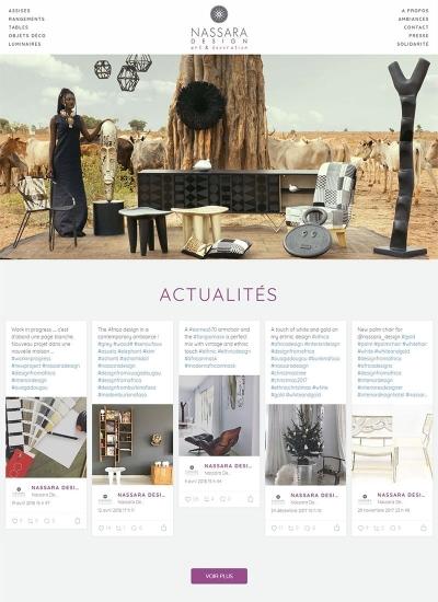 Capture d'écran de la nouvelle page d'accueil de nassaradesign.com